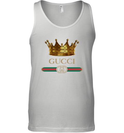 King Gold Gucci Logo Tank Top