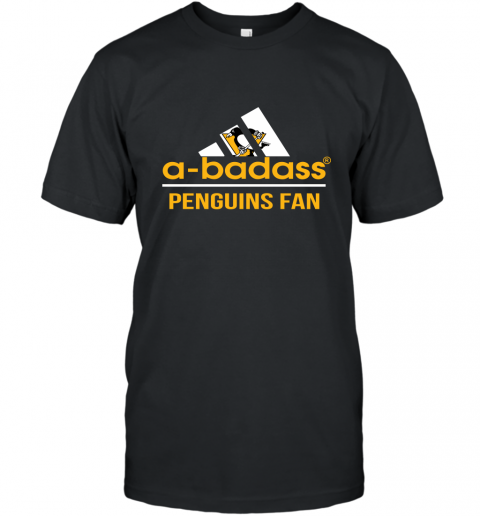 NHL A Badass Pittsburgh Penguins Fan Adidas Hockey Sports T-Shirt