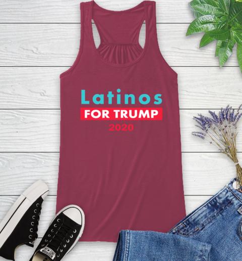 Latinos Trump 2020 Racerback Tank 8