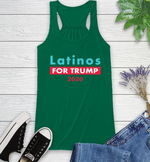 Latinos Trump 2020 Racerback Tank 7