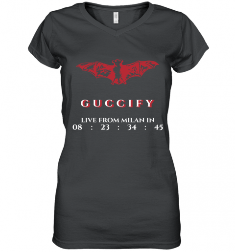 Gucci Bat Limited Edition Women's V-Neck T-Shirt