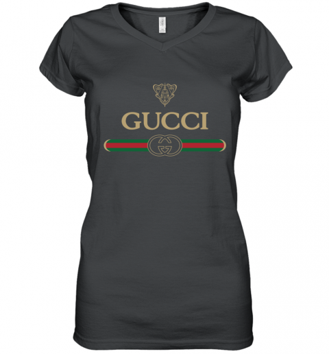 Gucci Vintage Logo Women's V-Neck T-Shirt
