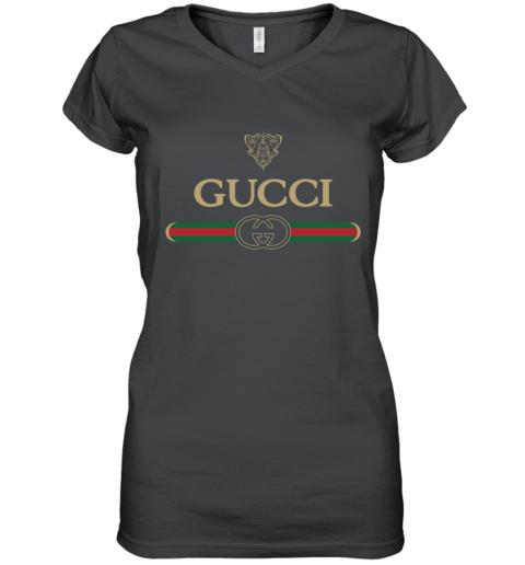 Gucci Vintage Logo Women's V-Neck T-Shirt