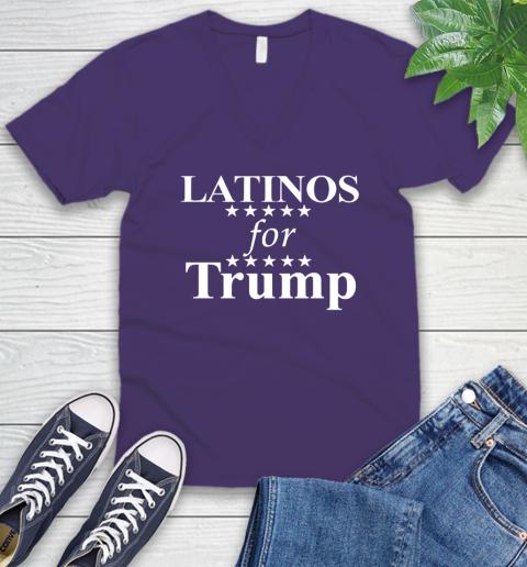 Latinos For Trump V-Neck T-Shirt 9