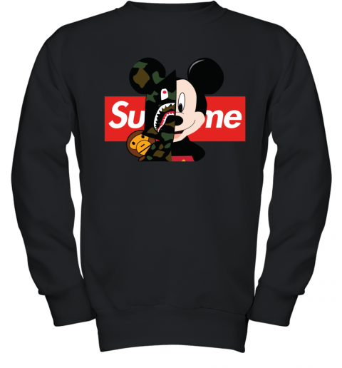 Mickey Mouse Supreme Bape Youth Sweatshirt