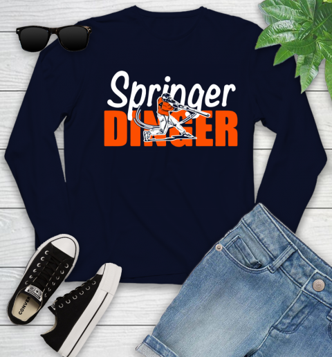 Houston Springer Dinger Fan Shirt Youth Long Sleeve 13