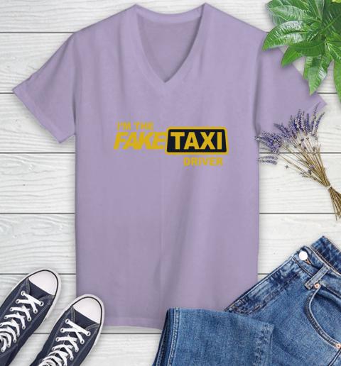 I am the Fake taxi driver Women's V-Neck T-Shirt 14