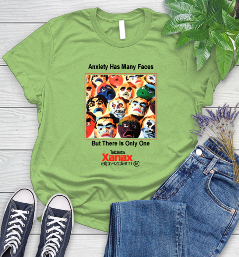 Anxiety Has Many Faces Xanax Promotional Shirt Women's T-Shirt 7