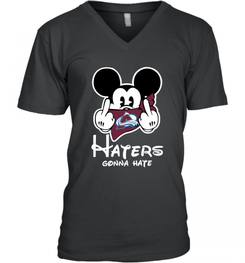 NHL Colorado Avalanche Haters Gonna Hate Mickey Mouse Disney Hockey T Shirt V-Neck T-Shirt