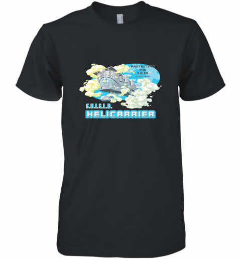 Marvel S.H.I.E.L.D. Helicarrier Protecting The Skies Men's Premium T-Shirt