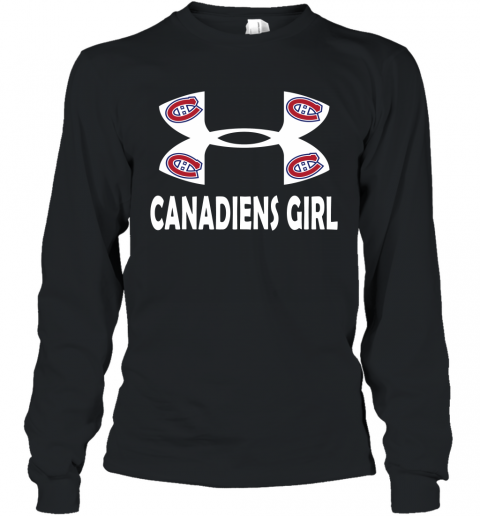 NHL Montreal Canadiens Girl Under Armour Hockey Sports Long Sleeve T-Shirt