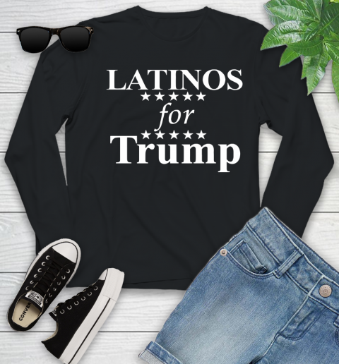 Latinos For Trump Youth Long Sleeve