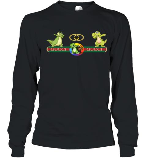 Gucci Logo Dinosaur Dabbing Dance Youth Long Sleeve T-Shirt