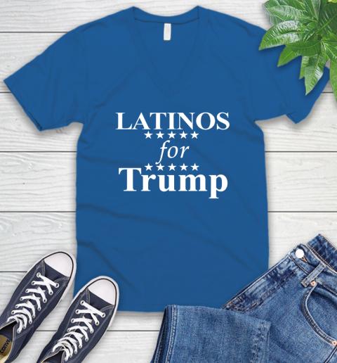 Latinos For Trump V-Neck T-Shirt 5