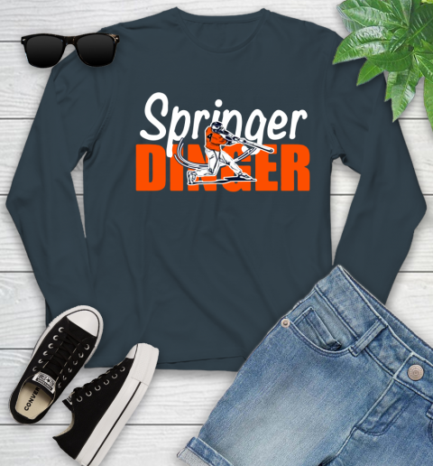 Houston Springer Dinger Fan Shirt Youth Long Sleeve 9