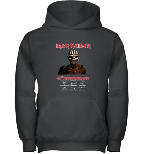 1975 2020 Iron Maiden 45th Anniversary Youth Hoodie