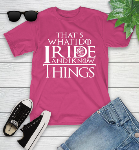 That's What I Do I Ride And I Know Things Horse Riding Youth T-Shirt 11