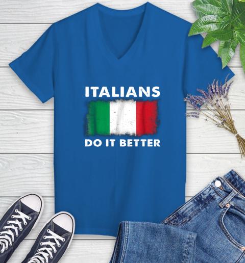 Italians Do It Better Women's V-Neck T-Shirt 10