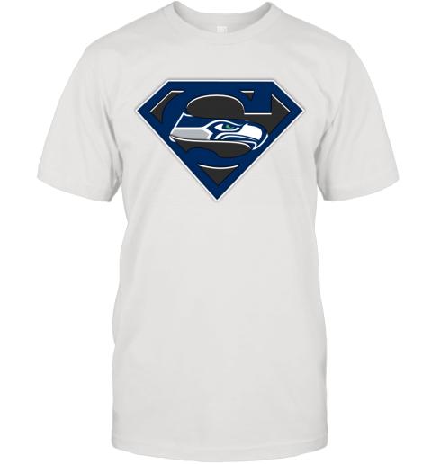 NFL Seattle Seahawks LOGO Superman T-Shirt