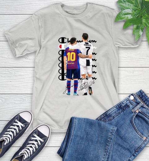 Champion Ronaldo And Messi Signatures T Shirt