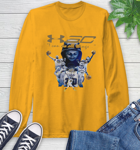 Stephen Curry I Can Do All Things Signature Long Sleeve T-Shirt 2