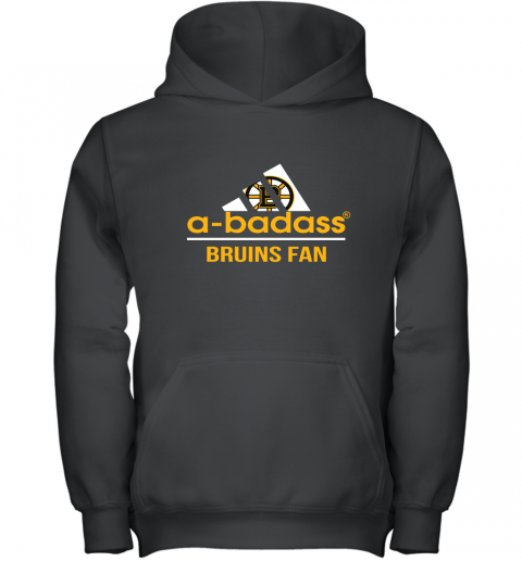 NHL A Badass Boston Bruins Fan Adidas Hockey Sports Youth Hoodie