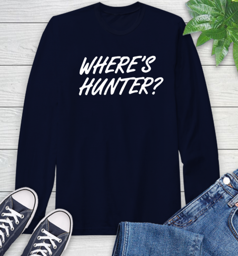 Where Is Hunter Long Sleeve T-Shirt 3