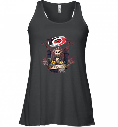 Carolina Hurricanes Jack Skellington this is Halloween shirt Racerback Tank