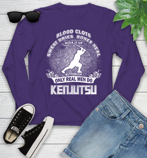 Sweat Dries Bones Heal Suck It Up Only Real Men Do Kenjutsu Youth Long Sleeve 4