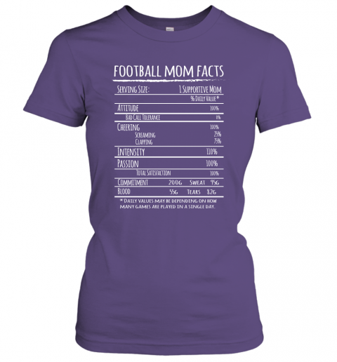 Football Mom Facts Shirt Funny Gift For Football Player Mother Women Tee