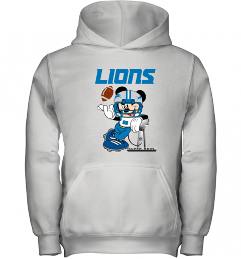 NFL Detroit Lions Mickey Mouse Disney Super Bowl Football T Shirt Youth Hoodie