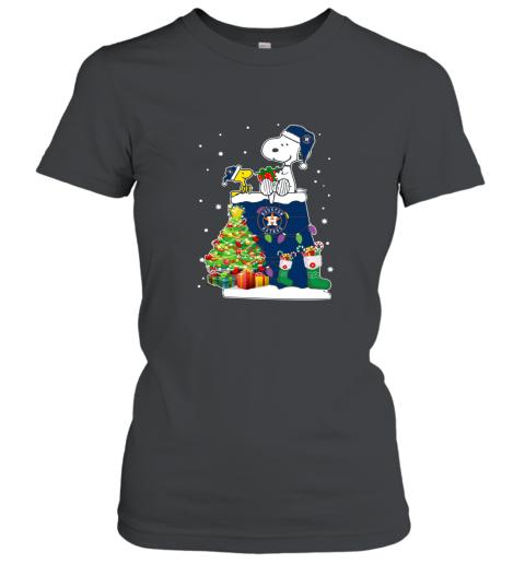 Houston Astros Snoopy & Woodstock Christmas Shirt Women's T-Shirt