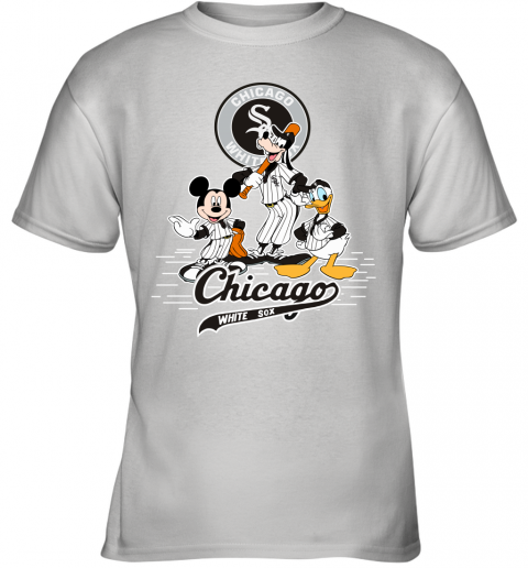 MLB Chicago White Sox Mickey Mouse Donald Duck Goofy Baseball T Shirt Youth T-Shirt
