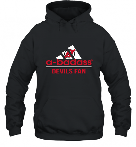 NHL A Badass New Jersey Devils Fan Adidas Hockey Sports Hoodie