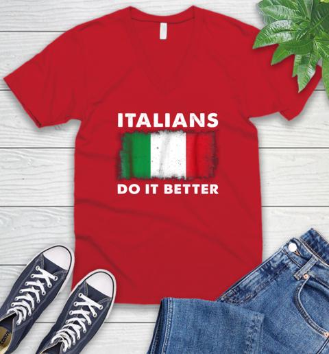 Italians Do It Better V-Neck T-Shirt 6