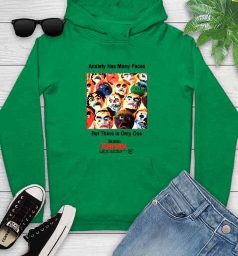 Anxiety Has Many Faces Xanax Promotional Shirt Youth Hoodie 5