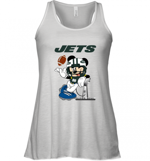 NFL New York Jets Mickey Mouse Disney Super Bowl Football T Shirt Racerback Tank