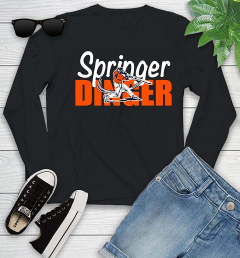 Houston Springer Dinger Fan Shirt Youth Long Sleeve 12