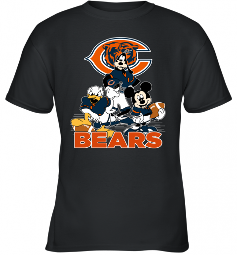 NFL Chicago Bears Mickey Mouse Donald Duck Goofy Football T Shirt Youth T-Shirt