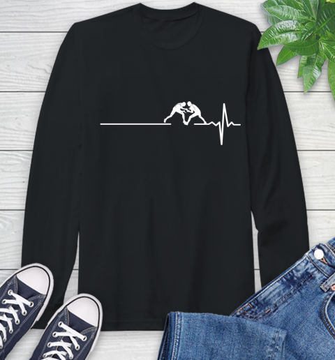 Wrestling This Is How My Heart Beats Long Sleeve T-Shirt