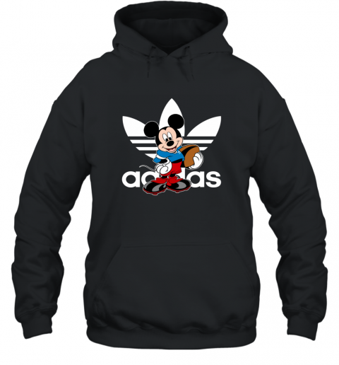 Adidas Logo  Rugby Mickey Mouse Disney Sports Hoodie