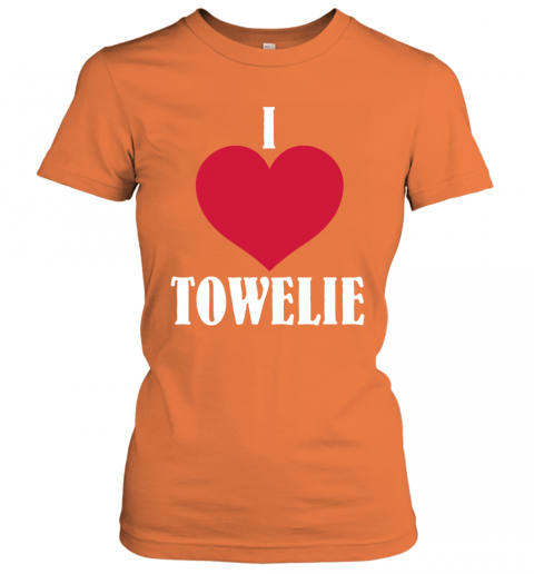 I LOVE TOWELIE RED HEART Women's T-Shirt