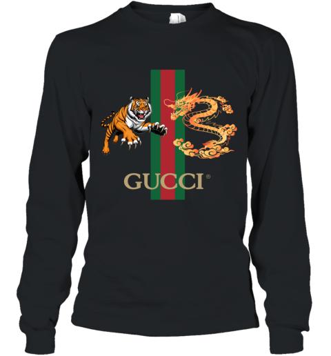 Gucci Tiger x Goden Dragon Design Long Sleeve T-Shirt