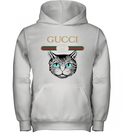 Gucci Logo Black Cat Secret Youth Hoodie