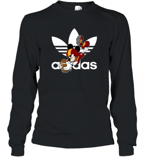 Adidas Logo  Rugby Mickey Mouse Disney Long Sleeve T-Shirt