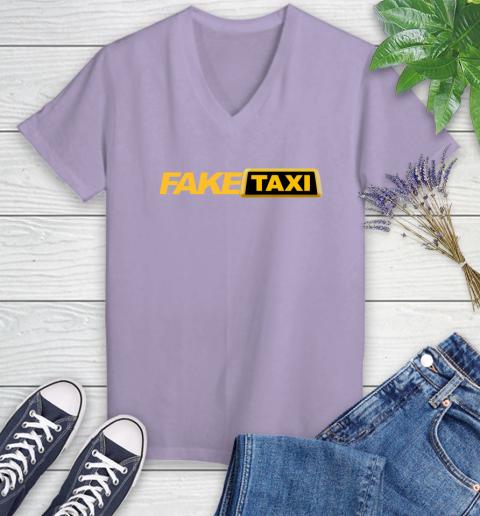 Fake taxi Women's V-Neck T-Shirt 14