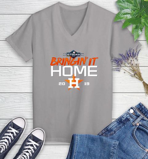 Bringing It Home Astros Women's V-Neck T-Shirt 4