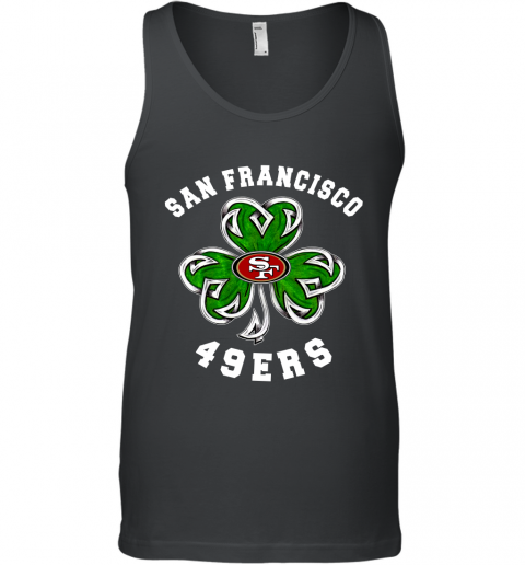 NFL San Francisco 49ers Three Leaf Clover St Patrick's Day Football Sports Tank Top
