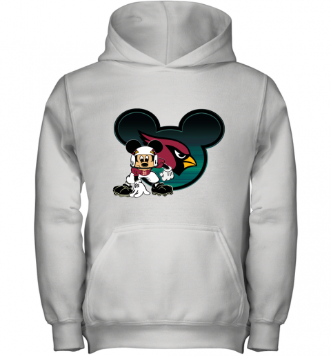 NFL Arizona Cardinals Mickey Mouse Disney Football T Shirt Youth Hoodie