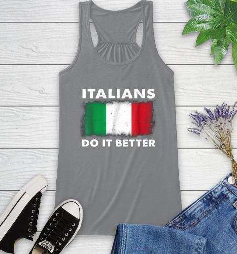 Italians Do It Better Racerback Tank 4